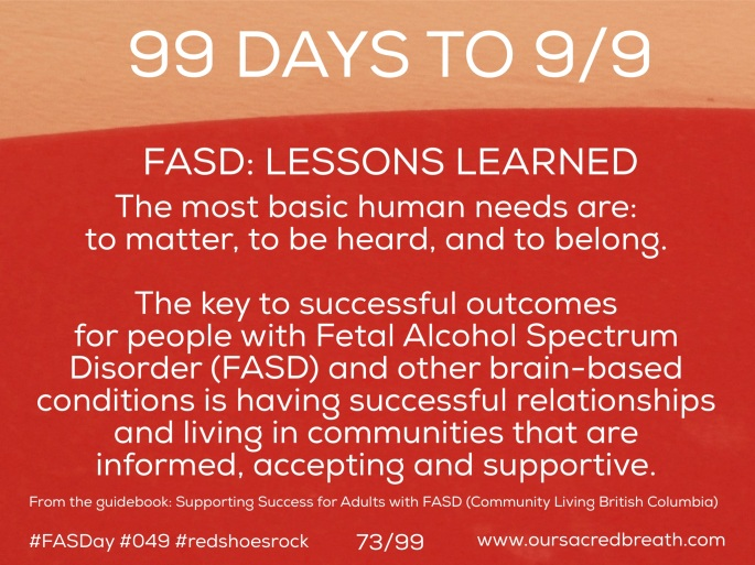 Day 73 of 99 Days to FASDay